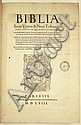 BIBLE IN LATIN.   Biblia sacra veteris & novi testamenti iuxta vulgatam.  1558