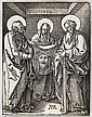 ALBRECHT DÜRER Veronica between Saints Peter and Paul.
