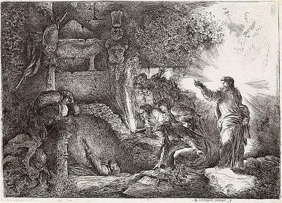 GIOVANNI B. CASTIGLIONE The Raising of Lazarus.