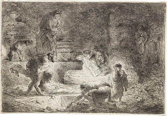 GIOVANNI B. CASTIGLIONE Tobit Burying the Dead.