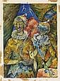 FREDERICK D. JONES, JR. (1914 - 2004) Harlequins.
