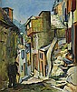 LOÏS MAILOU JONES (1905 - 1998) Untitled (Village Steet Scene).