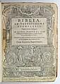 BIBLE IN LATIN.  Biblia ad vetustissima exemplaria nunc recens castigata.  1599