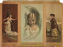 DESIGNER UNKNOWN. MATTIE VICKERS. Circa 1881. 30x40 inches, 76x101 cm. H.A. Thomas, Lith. Studio, N.Y.