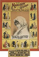 DESIGNER UNKNOWN. MADISON SQUARE THEATER SUCCESS / YOUNG MRS. WINTHROP. 1882. 36x25 inches, 92x63 cm.