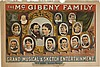 DESIGNER UNKNOWN. THE MCGIBENY FAMILY. Circa 1882. 28x42 inches, 71x106 cm. The Courier Lith. Co., Buffalo, New York.