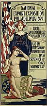 DESIGNER UNKNOWN. NATIONAL EXPORT EXPOSITION / PHILADELPHIA. 1899. 45x20 inches, 114x50 cm. Ketterlinus, Philadelphia.