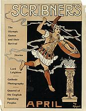 HENRY MAYER (1868-1953). SCRIBNER'S APRIL / THE OLYMPIC GAMES. 1896. 18x14 inches, 46x35 cm.