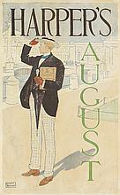 EDWARD PENFIELD (1866-1925). HARPER'S AUGUST. 1893. 19x11 inches, 48x29 cm.