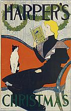 EDWARD PENFIELD (1866-1925). HARPER'S CHRISTMAS. 1894. 16x12 inches, 42x32 cm.
