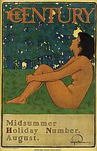 MAXFIELD PARRISH (1870-1966). THE CENTURY / MIDSUMMER HOLIDAY NUMBER. 1897. 19x11 inches, 49x30 cm. Thomas A. Wylie Lithographing Co.
