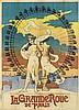 DESIGNER UNKNOWN. LA GRAND ROUE DE PARIS. 1899. 50x36 inches, 129x93 cm. J. Barreau, Paris.