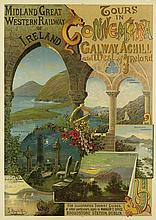 F. HUGO D'ALESI (1849-1906). TOURS IN CONNEMARA / GALWAY, ACHILL AND WEST OF IRELAND. Circa 1895. 49x35 inches, 124x89 cm. [A. Bellier