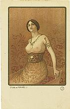 PAUL BERTHON (1872-1909). [POSTCARDS.] Group of 6. Circa 1900. Each approximately 3x5 inches, 9x14 cm. J.S.A.P.