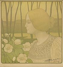 PAUL BERTHON (1872-1909). ROSES DE NOEL. 1899. 18x17 inches, 45x43 cm.