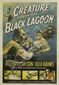 REYNOLD BROWN (1917-1991). CREATURE FROM THE BLACK LAGOON. 1954. 41x27 inches, 106x68 cm.