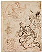 ITALIAN SCHOOL, LATE 16TH/EARLY 17TH-CENTURY Sheet of Figure Studies.