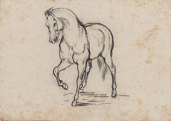 HORACE VERNET (CIRCLE OF) (Paris 1789- 1863 Paris) Study of a Horse.