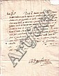 FARNESE, PIER LUIGI. Letter Signed, to an unnamed recipient, in Italian,