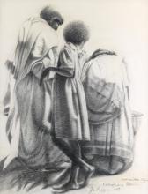 JOHN BIGGERS (1924 - 2001) Ethiopian Women.