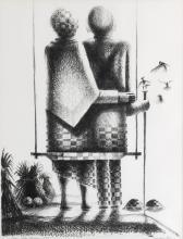 JOHN BIGGERS (1924 - 2001) Autumn Twins.