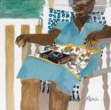 PHOEBE BEASLEY (1943 -   ) Catnap.
