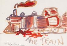 ROMARE BEARDEN (1911 - 1988) The Train.