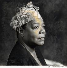 JEANNE MOUTOUSSAMY-ASHE (1951 -   ) Maya Angelou.