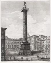 LUIGI ROSSINI Veduta della Colonna Antonina, o sia Piazza Colonna.