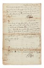(AMERICAN REVOLUTION.) FLOYD, WILLIAM. Document Signed,
