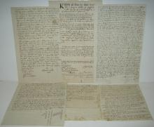BARTLETT, JOSIAH. Group of 5 Documents Signed,