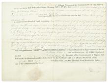 HENRY, PATRICK. Partly-printed vellum Document Signed,
