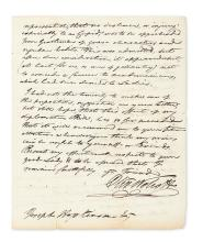 WOLCOTT, OLIVER; JR. Autograph Letter Signed,