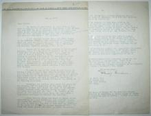 (ARCHITECTS.) GOODWIN, PHILIP L. Typed Letter Signed, to the first director of the Modern Museum of Art in NY Alfred H. Barr, Jr.,