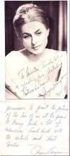 BERGMAN, INGRID. Two items, each Signed and Inscribed to composer Michel Michelet: Photograph * Brief Autograph Letter.