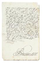 LEOPOLD I; EMPEROR. Letter Signed,