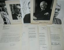 (NOBEL LAUREATES.) Collection of Letters and Photographs Signed, or Signed and Inscribed, by Nobel laureates,