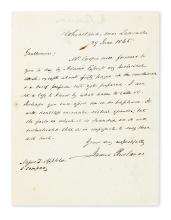 BUCHANAN, JAMES. Autograph Letter Signed, to his publishers D. Appleton & Company (