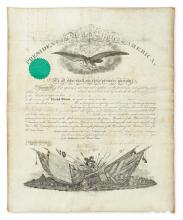 LINCOLN, ABRAHAM. Partly-printed vellum Document Signed, as President, military commission appointing George E. Henry