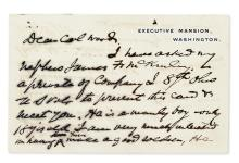 MCKINLEY, WILLIAM. Autograph Letter Signed, as President, to Brigadier General Leonard Wood (