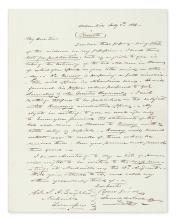 POLK, JAMES K. Autograph Letter Signed, to Editor of the Nashville Union Samuel H. Laughlin,
