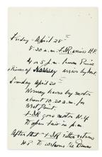 ROOSEVELT, FRANKLIN D. Autograph Manuscript Signed, as President, thrice in third person within the text (