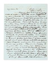 VAN BUREN, MARTIN. Autograph Letter Signed,