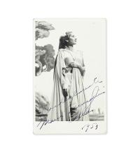 "CALLAS, MARIA. Photograph Signed and Inscribed, ""Cordialmente / Maria Meneghini / Callas / 1957,"""