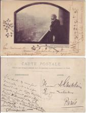 CHARPENTIER, GUSTAVE. Two postcards: Autograph Musical Quotation Signed and Inscribed, three bars from his Louise * Autograph Note Sign