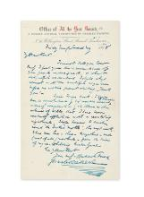 DICKENS, CHARLES. Autograph Letter Signed, to editor of the Sun Charles Kent (