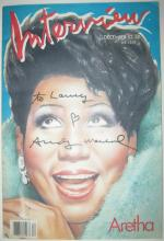 WARHOL, ANDY. Complete December 1986 issue of Interview magazine, Signed and Inscribed,