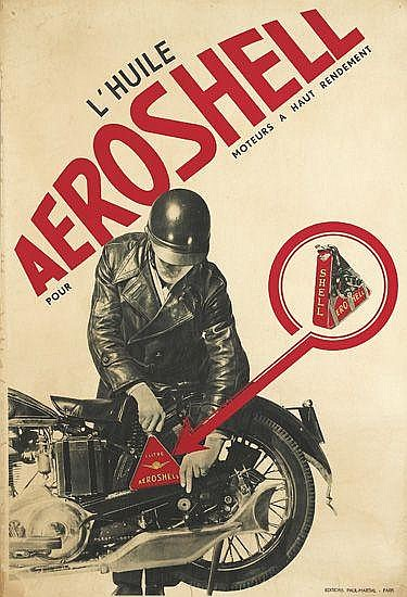 FRANCIS BERNARD (1900-1979). L'HUILE AEROSHELL. 1930. 45x30 inches, 114x77 cm. Paul-Martial, Paris.