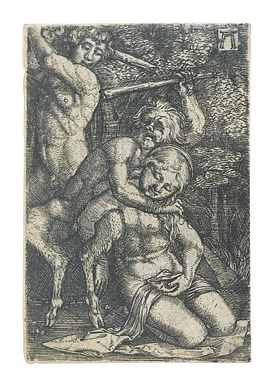 ALBRECHT ALTDORFER Two Satyrs Fighting over a Nymph.