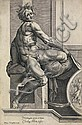 CHERUBINO ALBERTI (after Michelangelo) Seated Male Nude